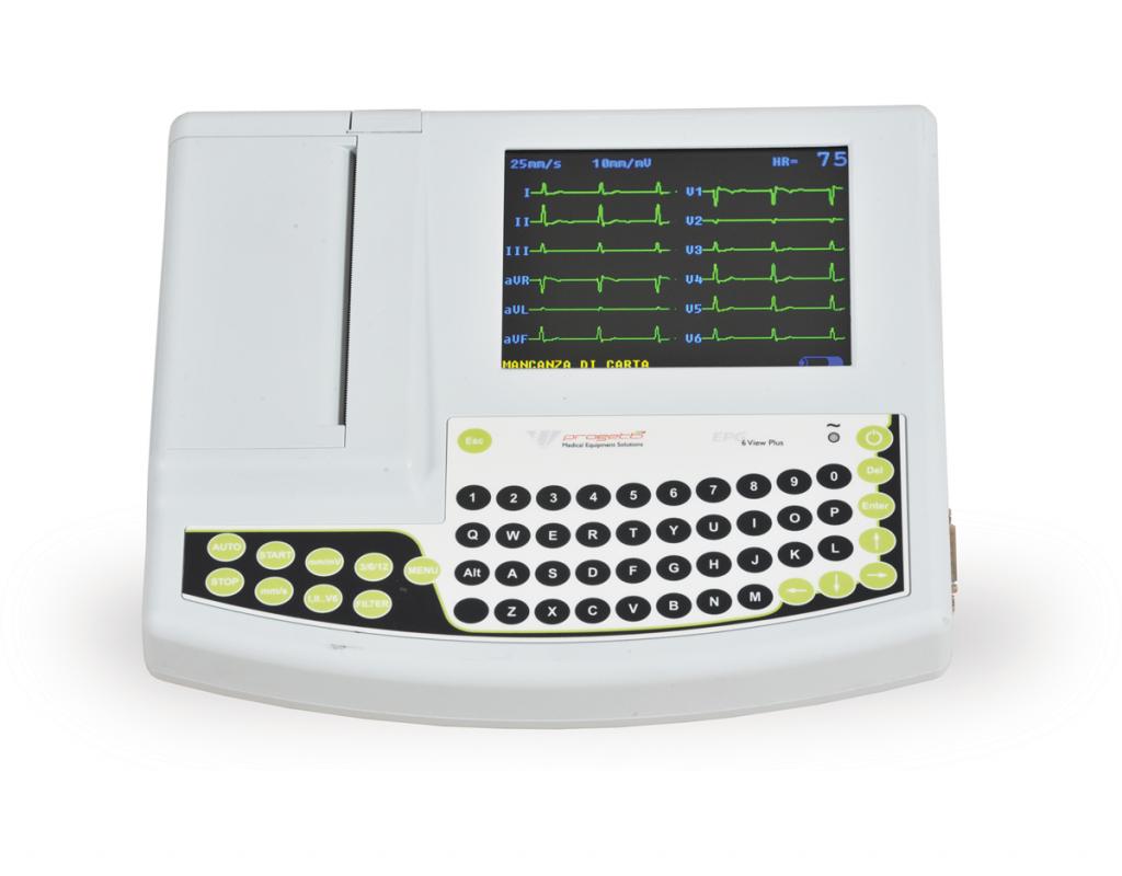 elettrocardiografo 6 e 12 canali - epg 6 view_plus
