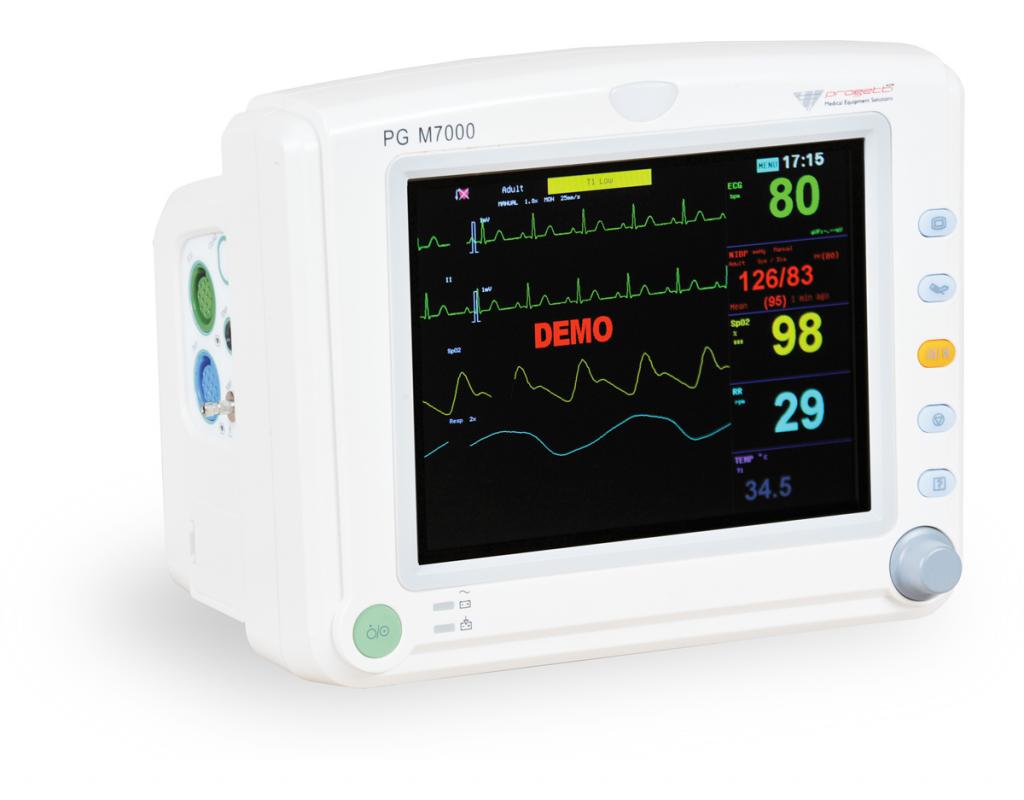 moniteur multiparamétrique - soins d'urgence PG M7000