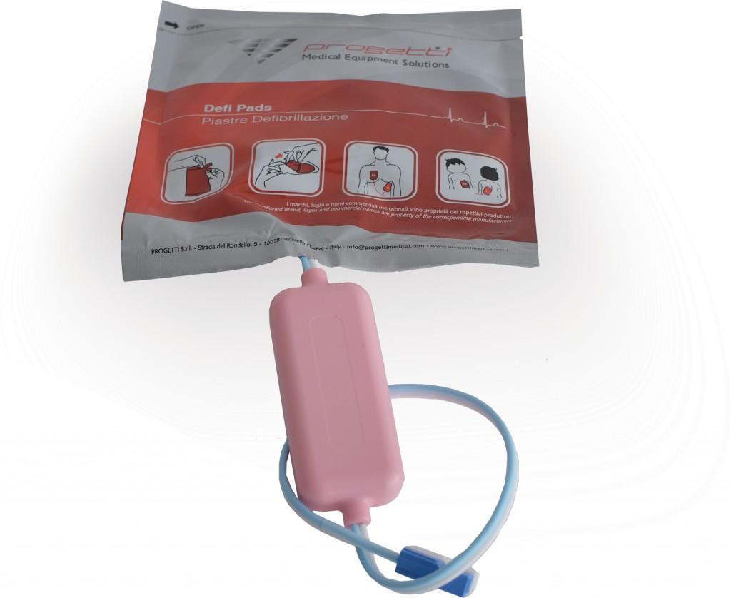 Piastra defibrillatore preconnessa pediatrica