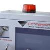 Dettaglio allarme a sirena teca per defibrillatore